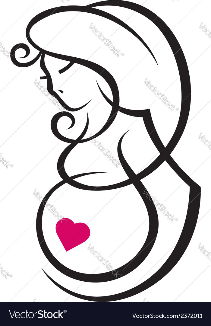 Pregnant woman vector | Price: 1 Credit (USD $1)