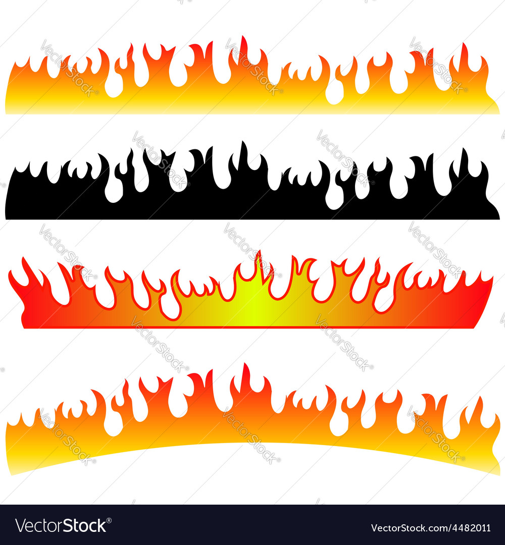 Silhouettes of fire vector | Price: 1 Credit (USD $1)