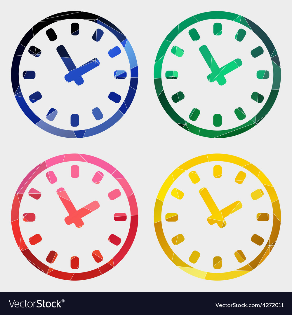 Time icon abstract triangle vector | Price: 1 Credit (USD $1)
