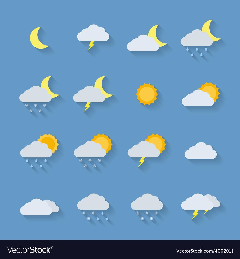 Weather icon set vector | Price: 1 Credit (USD $1)