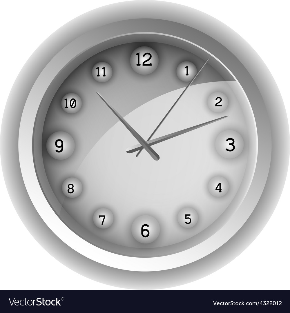 Analog clock vector | Price: 1 Credit (USD $1)