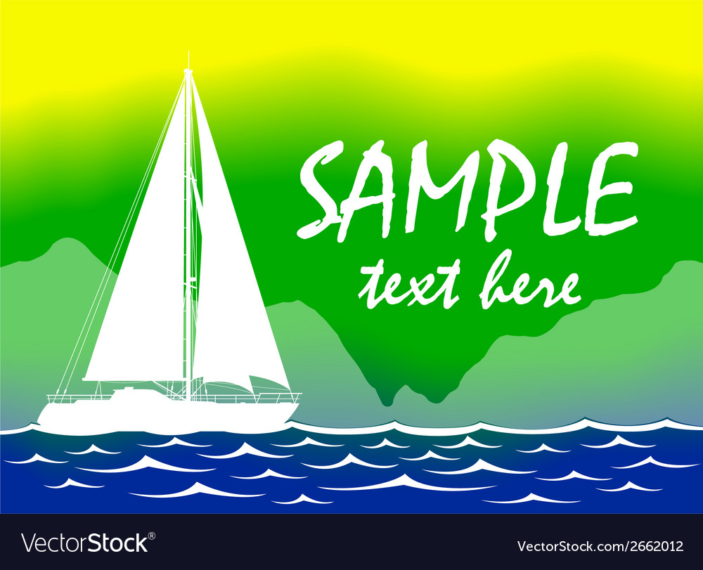 Brazil summer color background with yacht vector | Price: 1 Credit (USD $1)