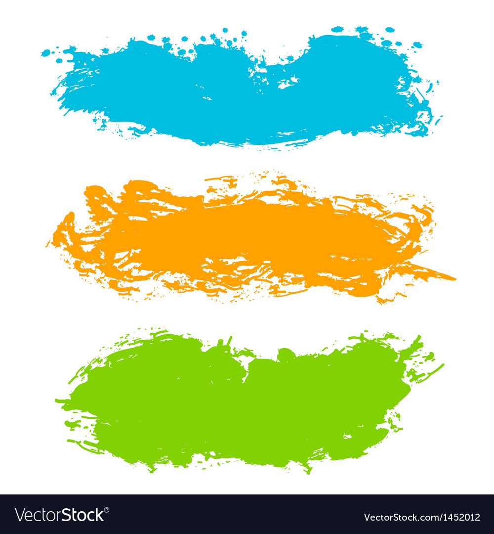 Colorful paint strokes vector | Price: 1 Credit (USD $1)