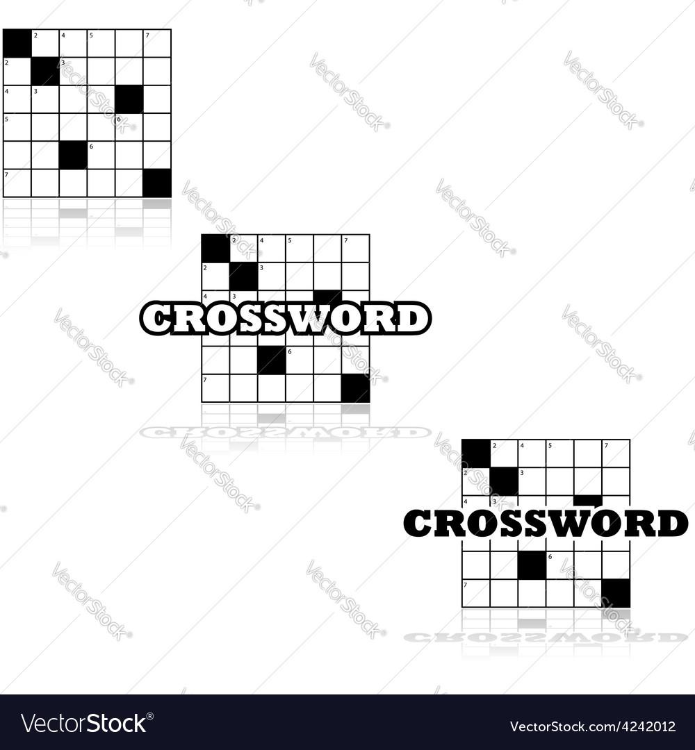 Crossword icons vector   Price: 1 Credit (USD $1)