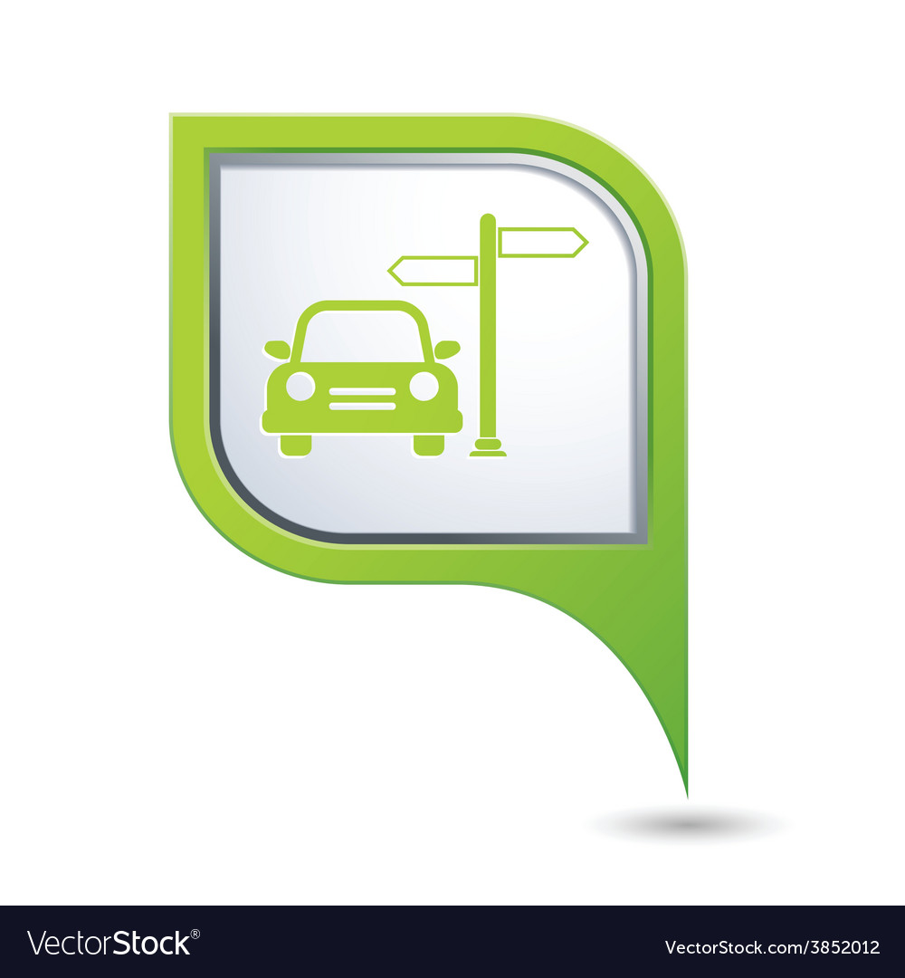 Direct car green pointer vector | Price: 1 Credit (USD $1)