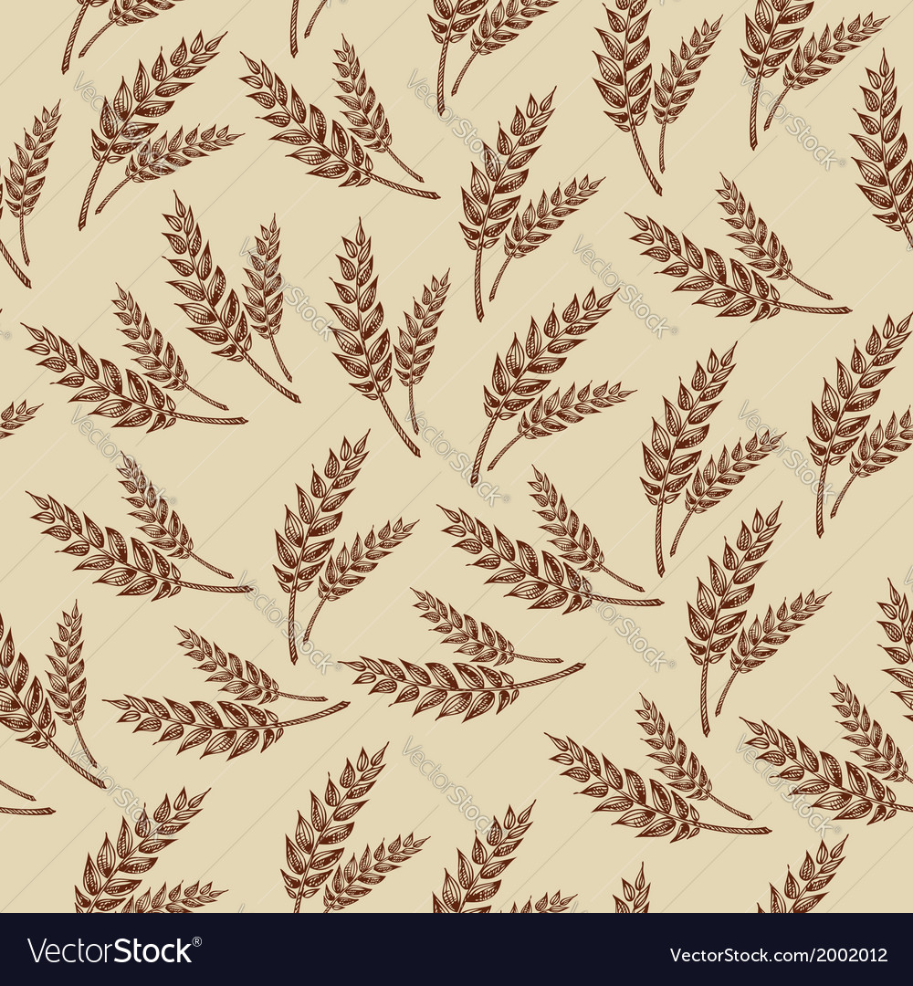 Seamless pattern wheats bakery design vector | Price: 1 Credit (USD $1)