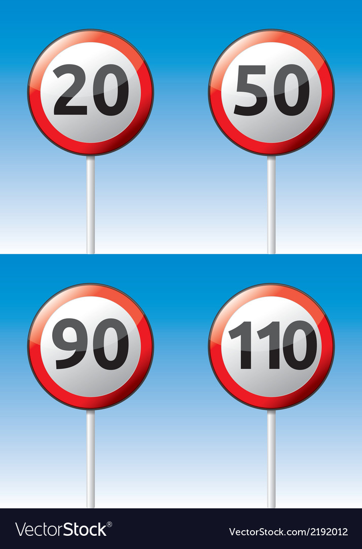 Speed limit traffic road board vector | Price: 1 Credit (USD $1)