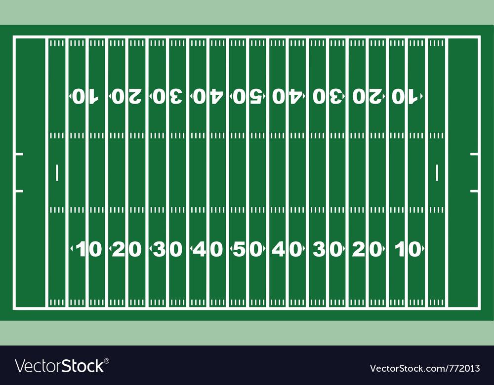 American football field vector | Price: 1 Credit (USD $1)