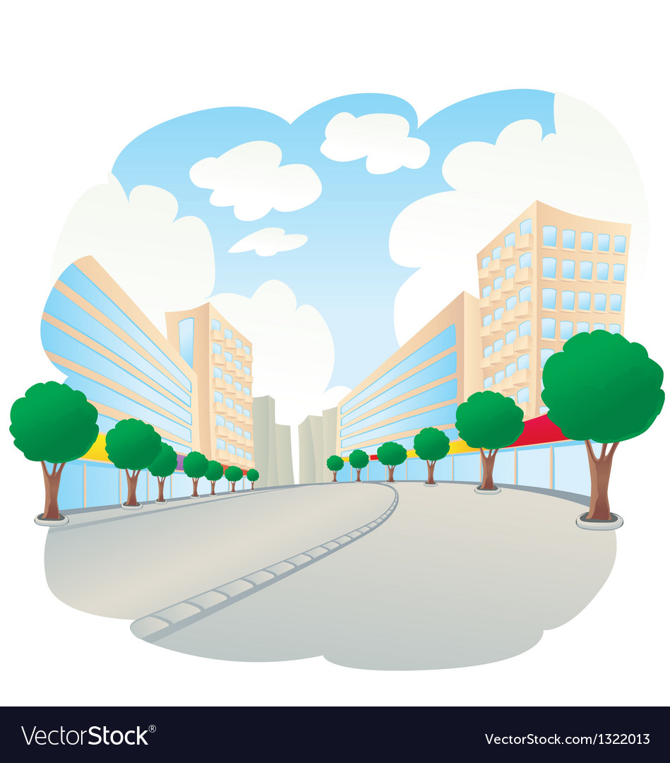 City landscape vector | Price: 1 Credit (USD $1)