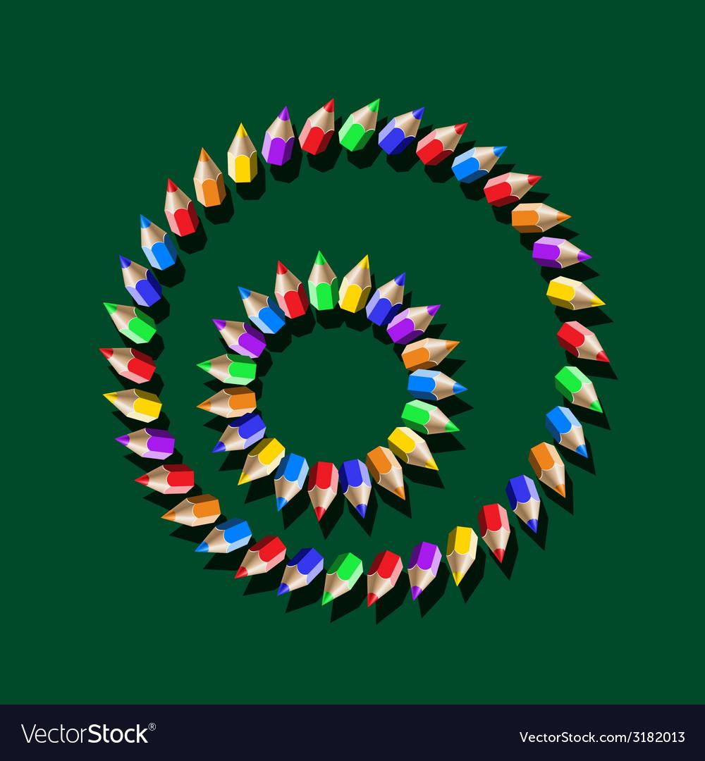Color pencil pattern vector | Price: 1 Credit (USD $1)