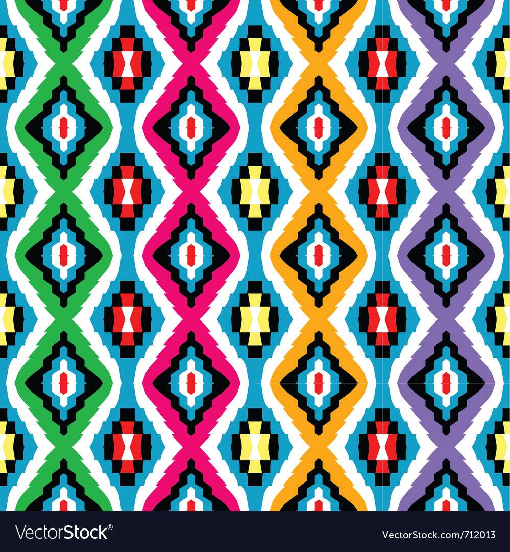 Colored ethnic texture vector | Price: 1 Credit (USD $1)