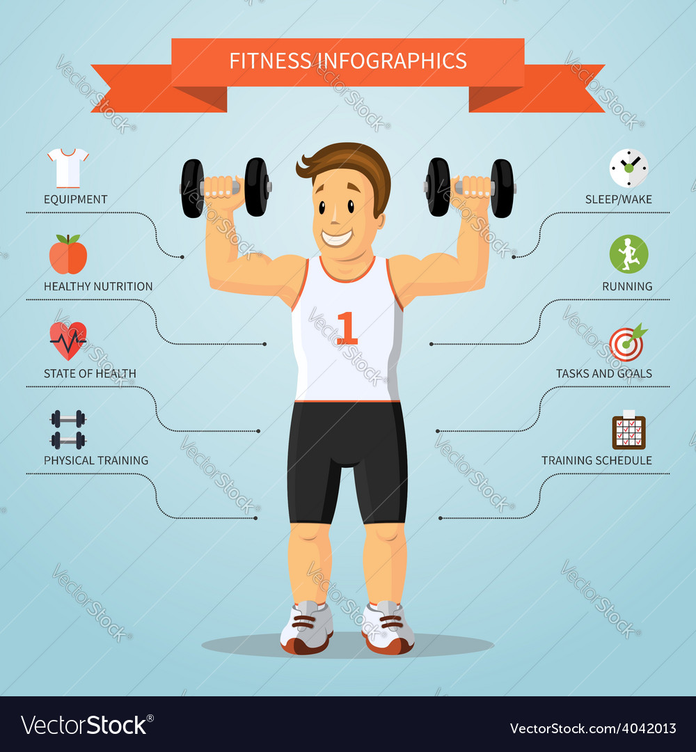 Fitness infographics concept vector | Price: 1 Credit (USD $1)