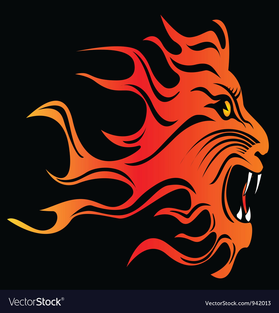 Flames lion vector | Price: 1 Credit (USD $1)