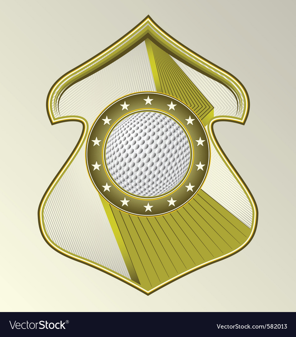 Golf ball sheld vector | Price: 1 Credit (USD $1)