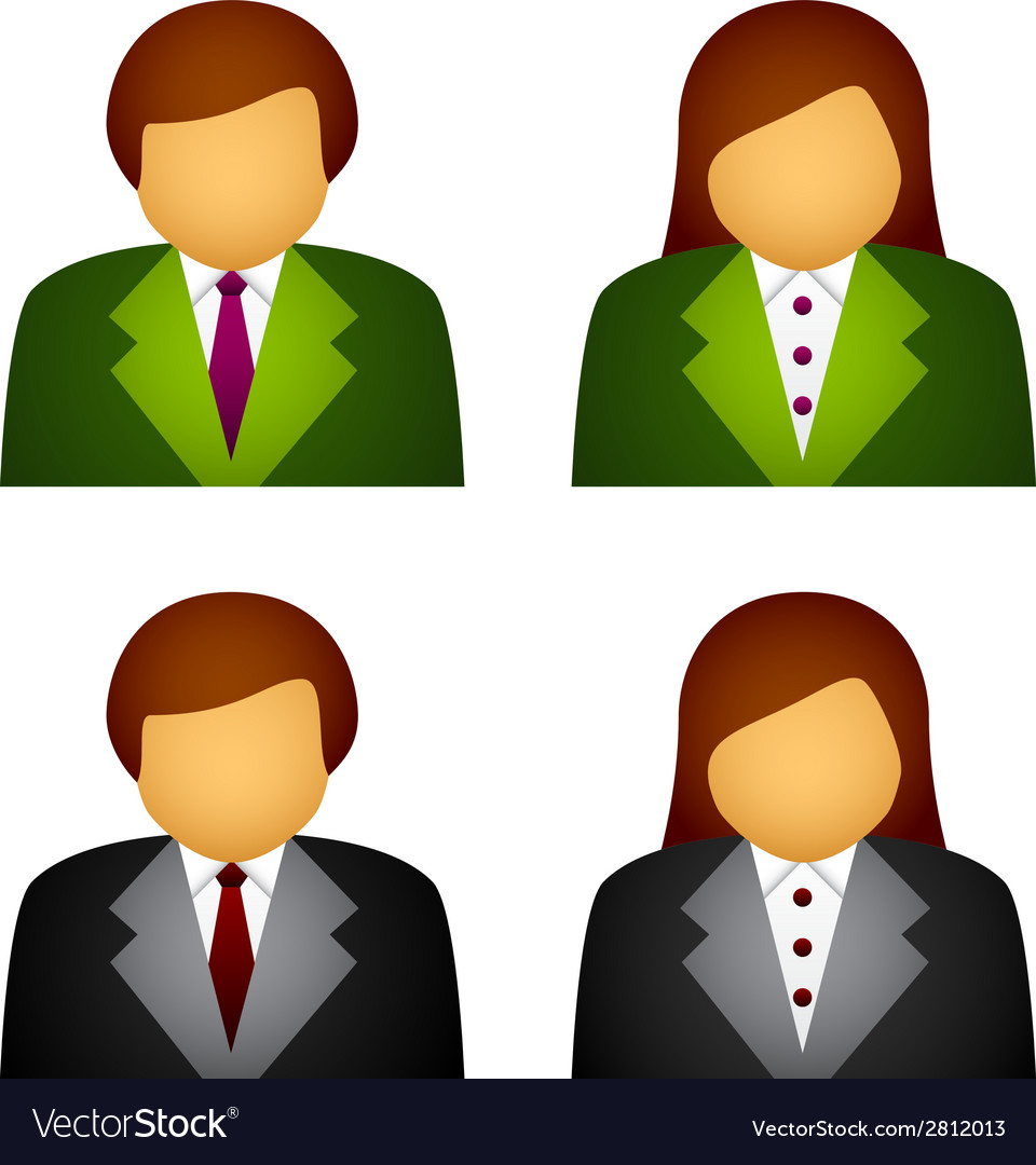 Male female business icons vector | Price: 1 Credit (USD $1)