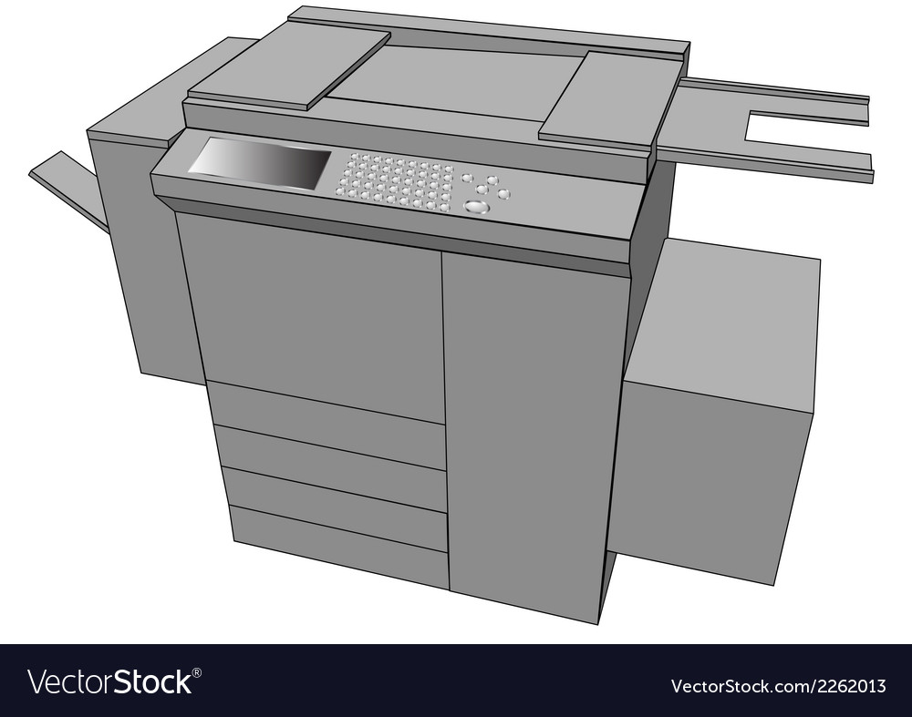 Print machine vector | Price: 1 Credit (USD $1)