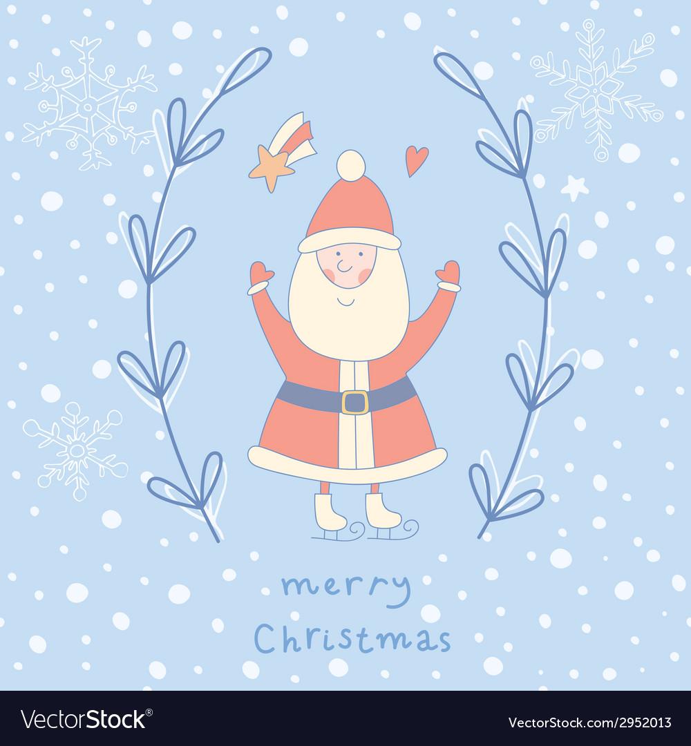Santa claus wreath vector | Price: 1 Credit (USD $1)