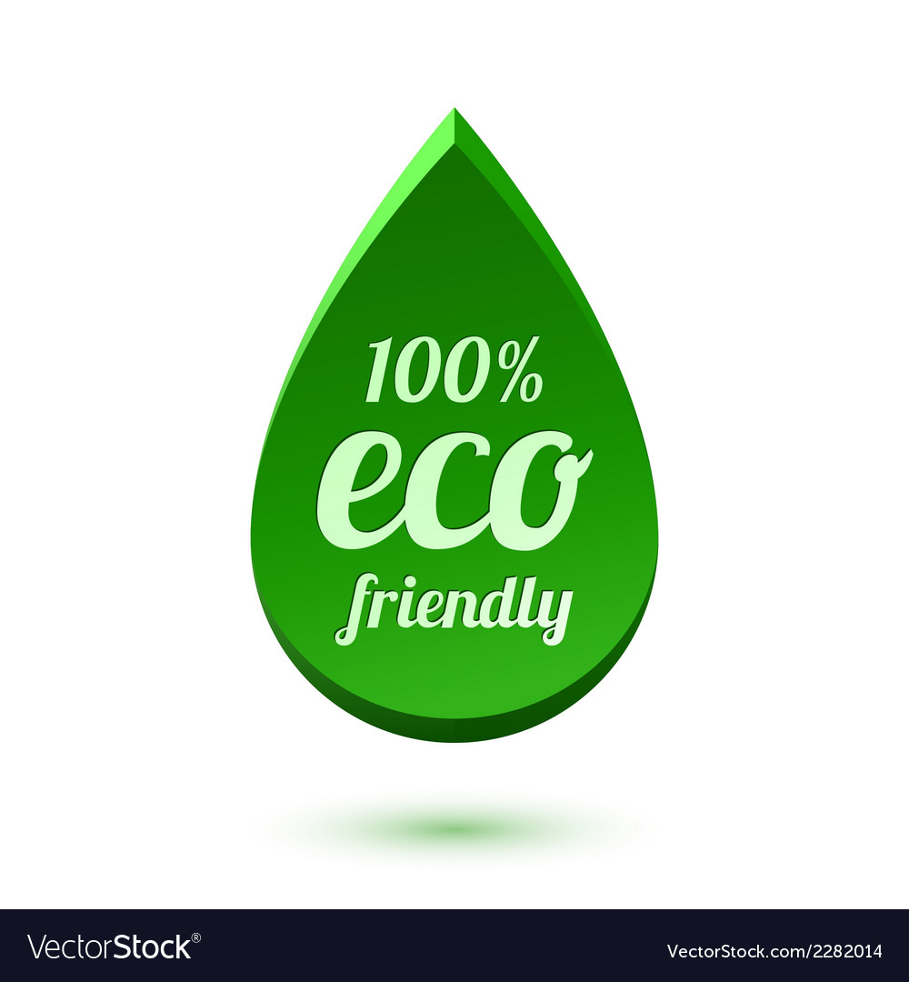 Abstract green drop eco friendly icon vector | Price: 1 Credit (USD $1)