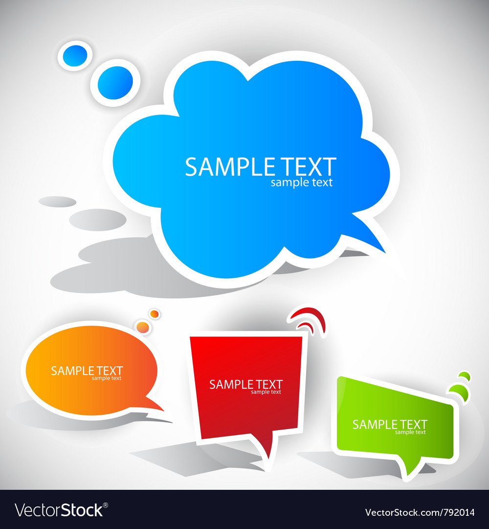 Colorful paper bubble for speech vector   Price: 1 Credit (USD $1)