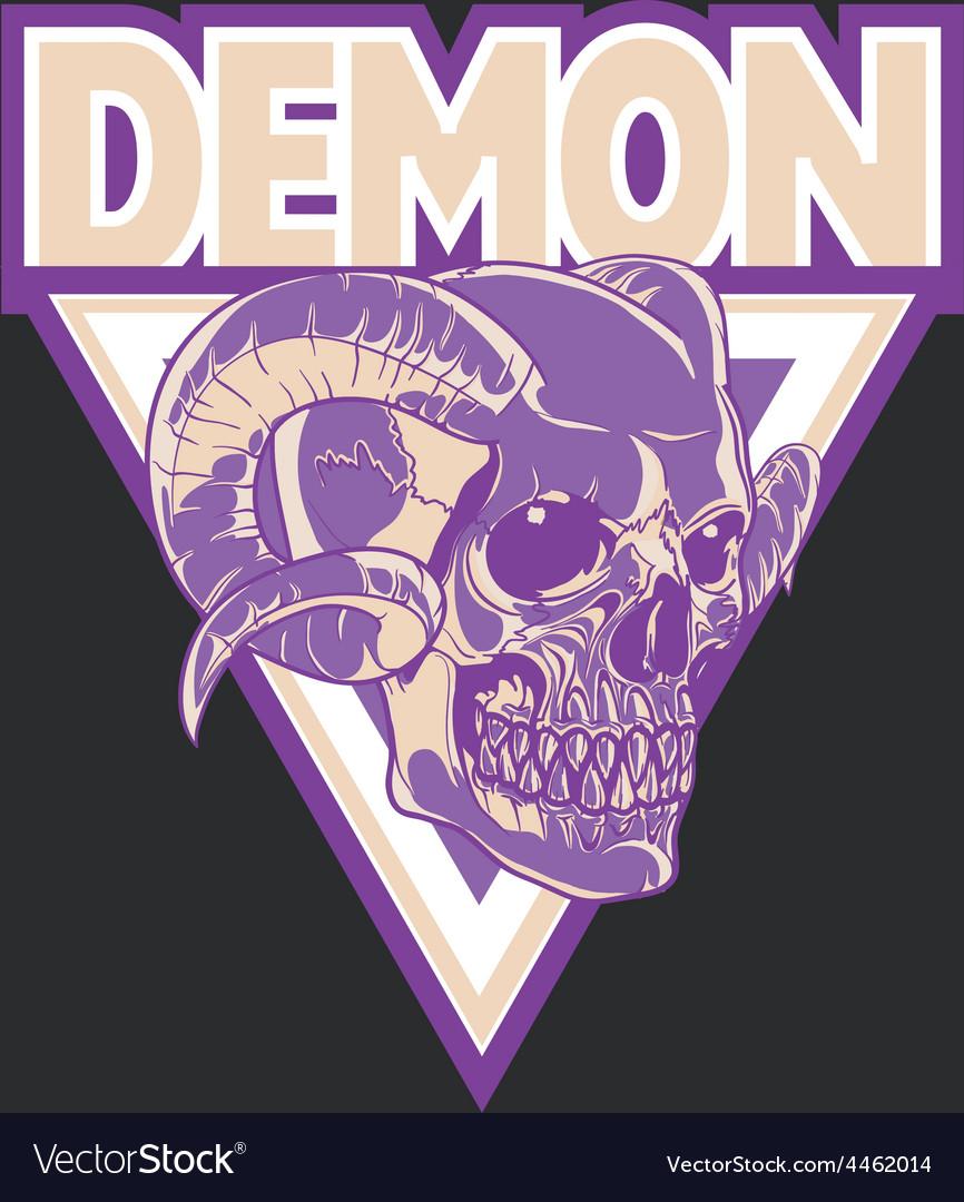 Demon head logo vector | Price: 1 Credit (USD $1)