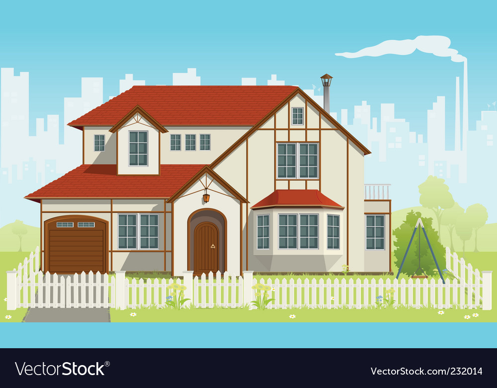 Family house vector | Price: 3 Credit (USD $3)