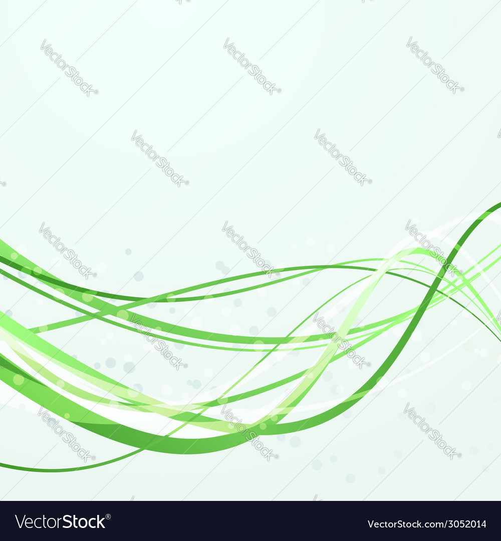 Green swoosh abstract lines template vector | Price: 1 Credit (USD $1)