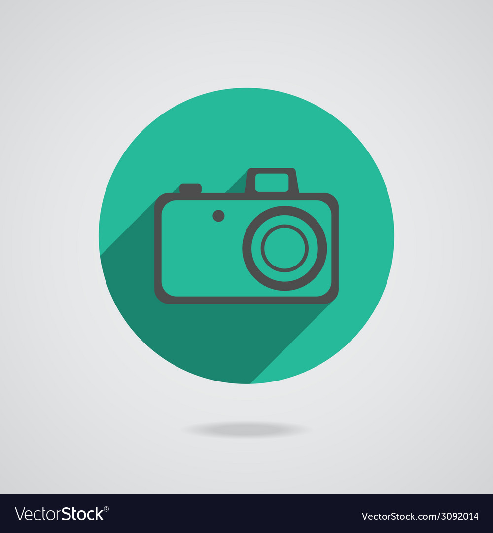 Hipster black photo camera icon element vector | Price: 1 Credit (USD $1)