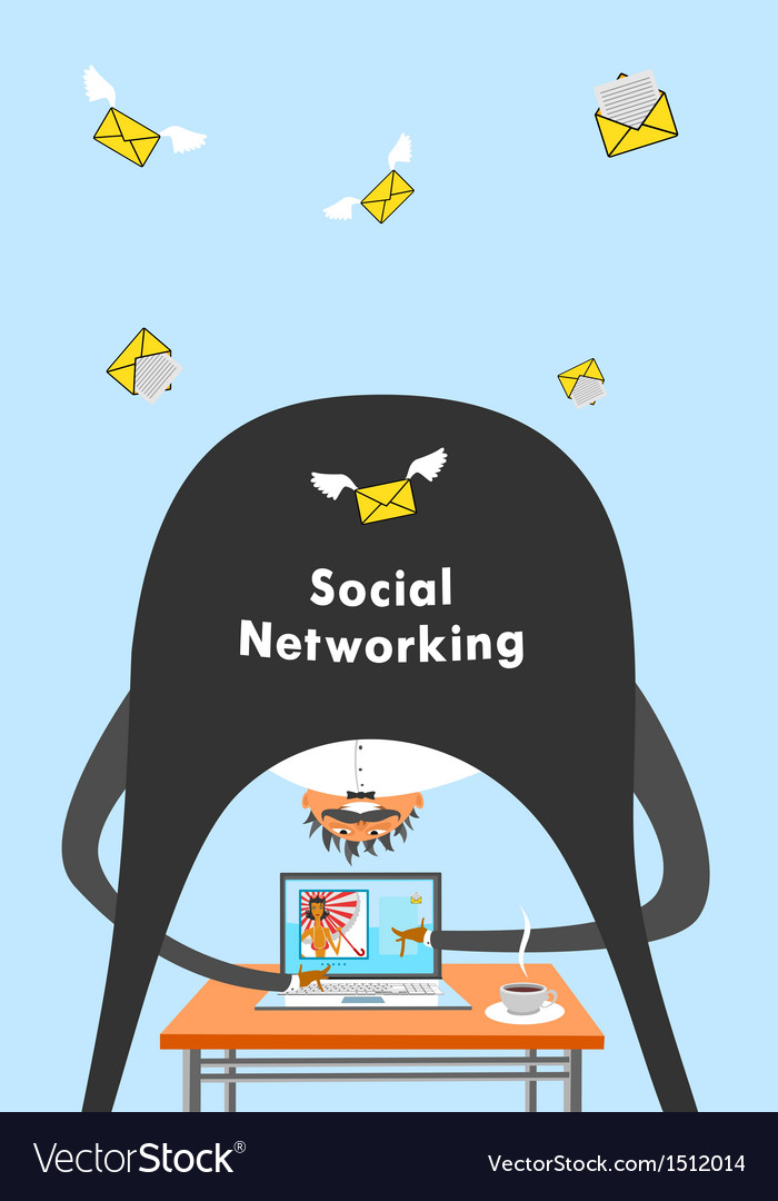 Internet and social networking vector | Price: 1 Credit (USD $1)