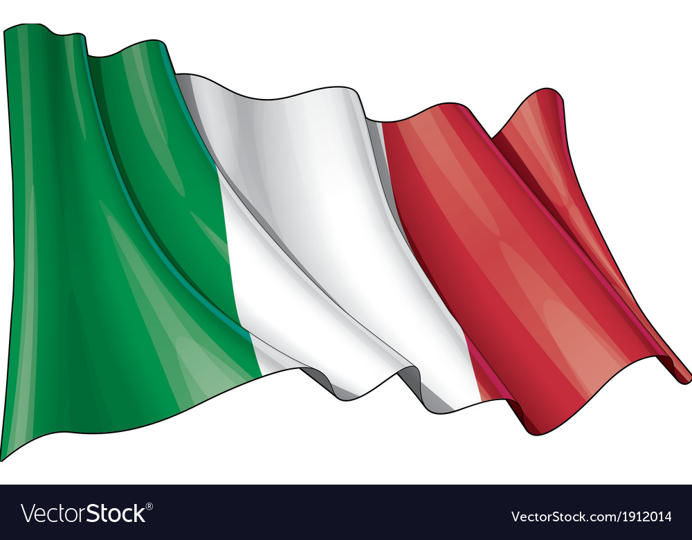 Italy flag grunge vector | Price: 1 Credit (USD $1)