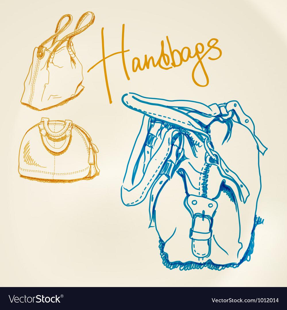 Sketch handbags vector | Price: 1 Credit (USD $1)