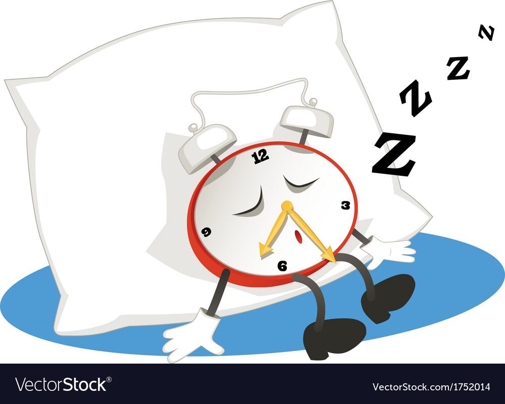 Sleeping alarm clock vector | Price: 1 Credit (USD $1)