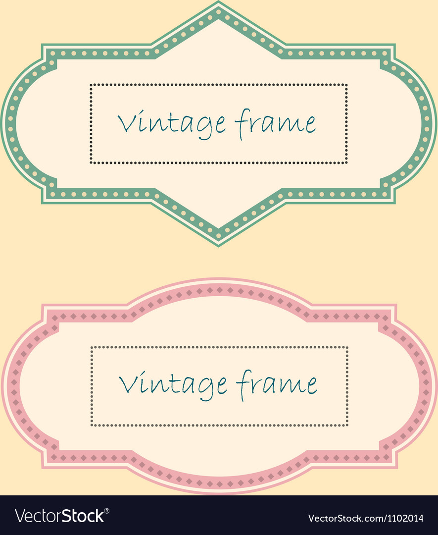 Two vintage frames vector | Price: 1 Credit (USD $1)
