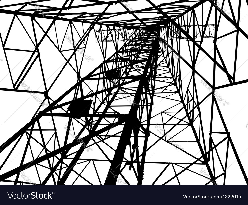 Abstract electrical tower vector | Price: 1 Credit (USD $1)