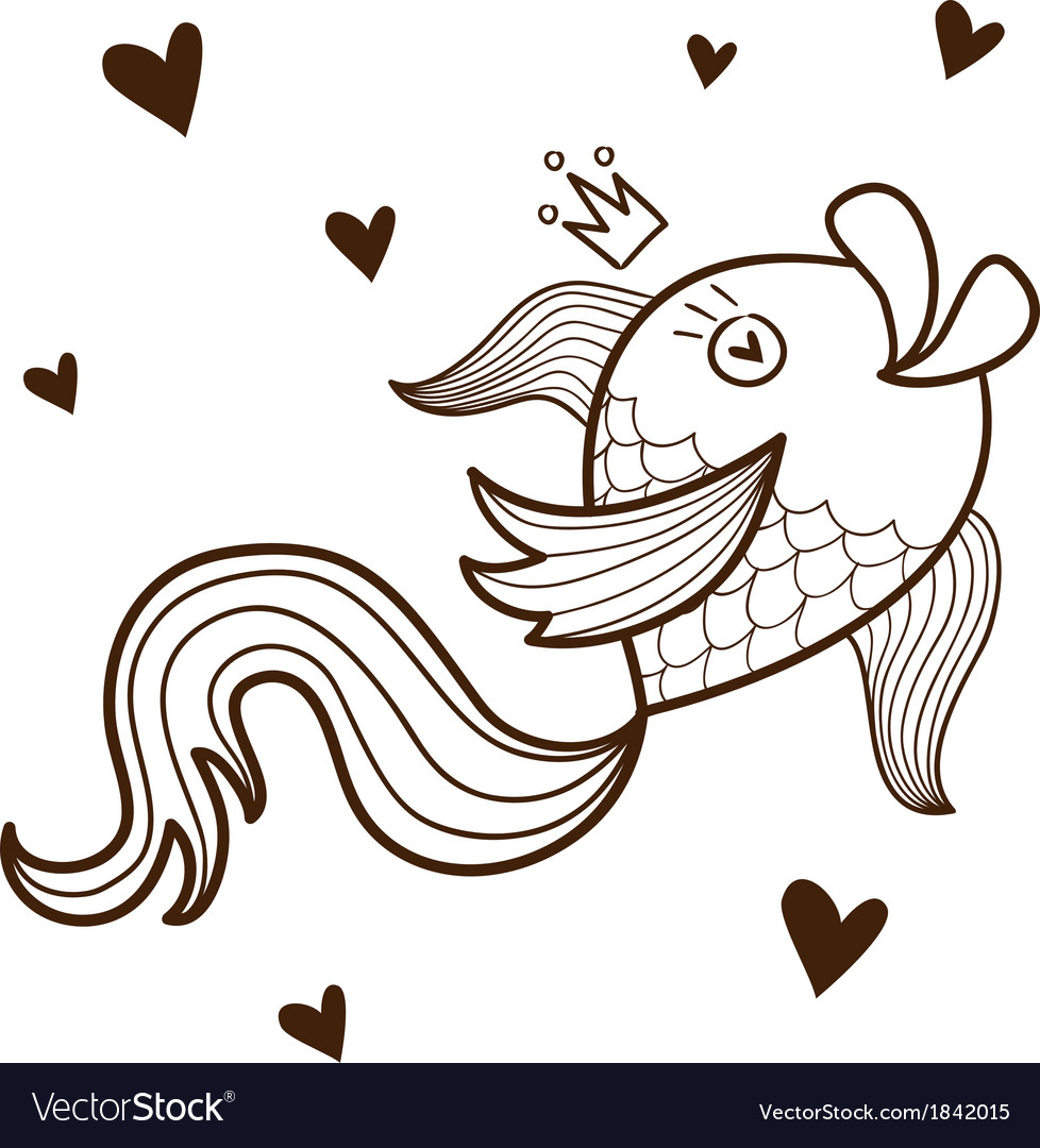 Fish character vector | Price: 1 Credit (USD $1)