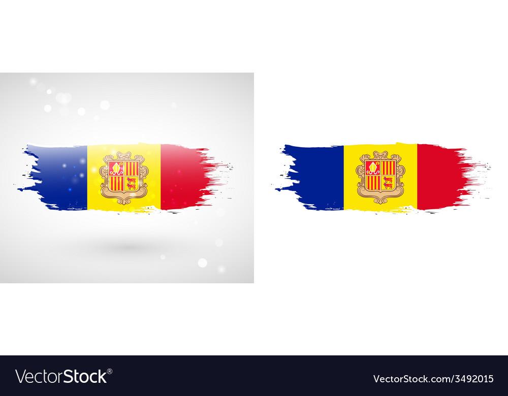 Flag of andorra vector | Price: 1 Credit (USD $1)