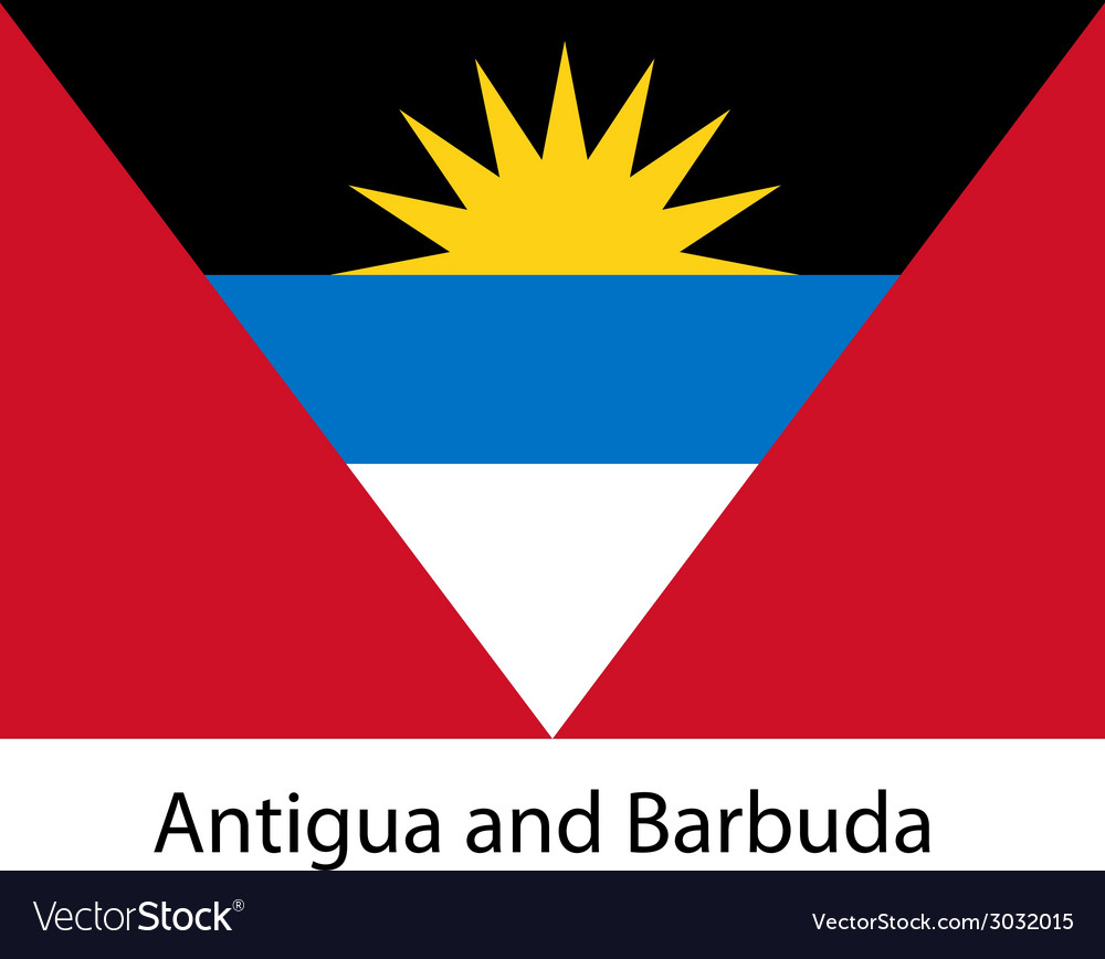 Flag of the country antigua and barbuda vector | Price: 1 Credit (USD $1)