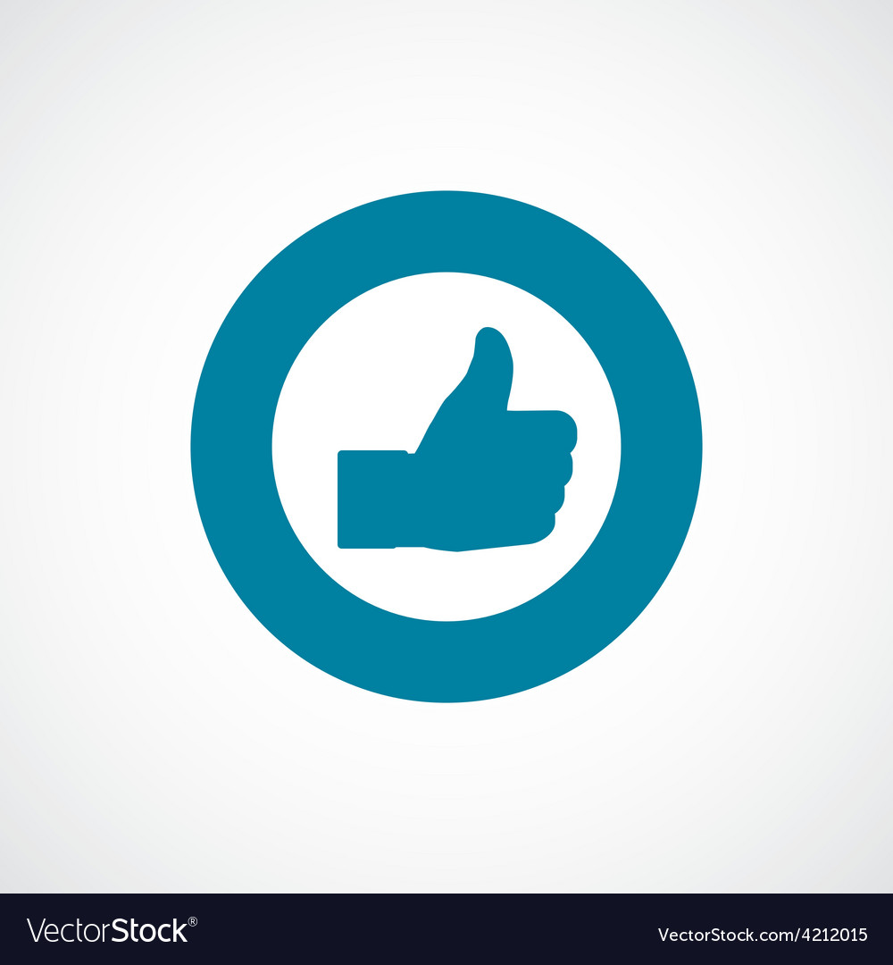 Like icon bold blue circle border vector | Price: 1 Credit (USD $1)