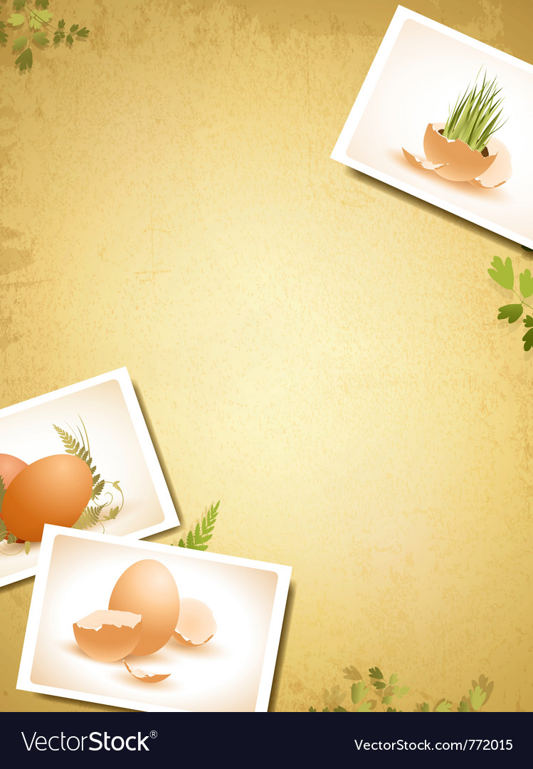 Vintage easter background vector | Price: 3 Credit (USD $3)