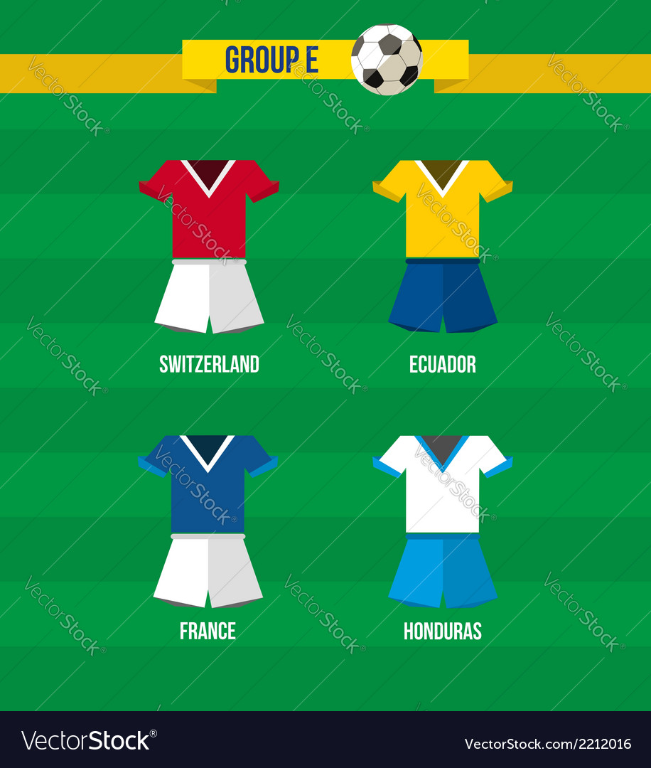 Brazil soccer championship 2014 group e team vector | Price: 1 Credit (USD $1)