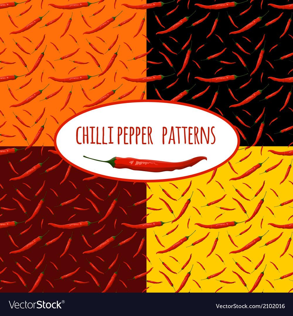 Chilli pepper seamless pattern vector | Price: 1 Credit (USD $1)