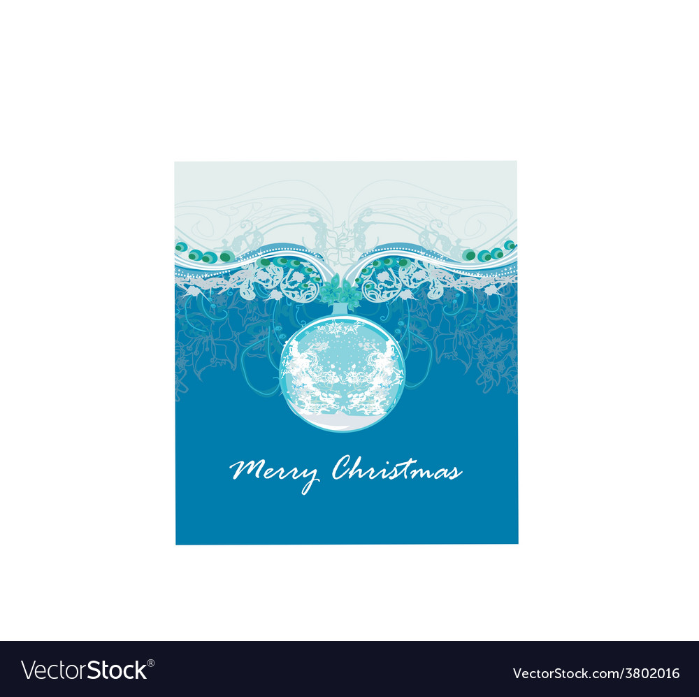 Christmas abstract bauble framework style card vector | Price: 1 Credit (USD $1)