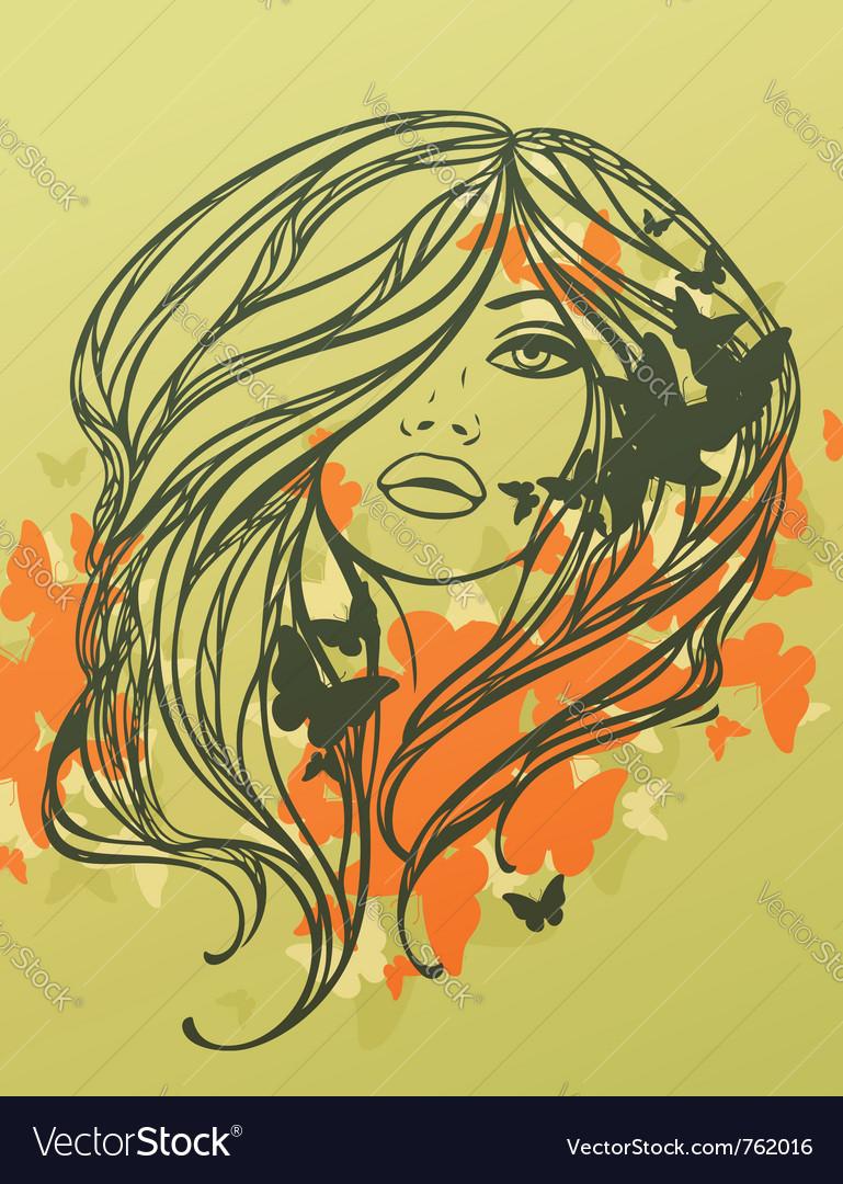 Fashion girl vector | Price: 3 Credit (USD $3)