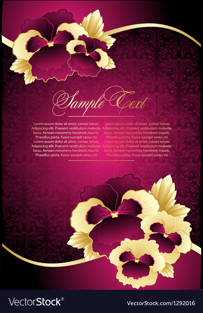 Greeting floral card vector | Price: 1 Credit (USD $1)