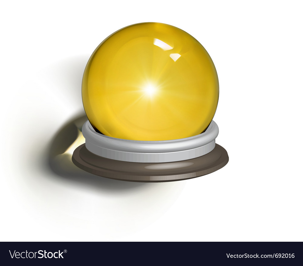 Ial of a magic crystal ball vector | Price: 1 Credit (USD $1)