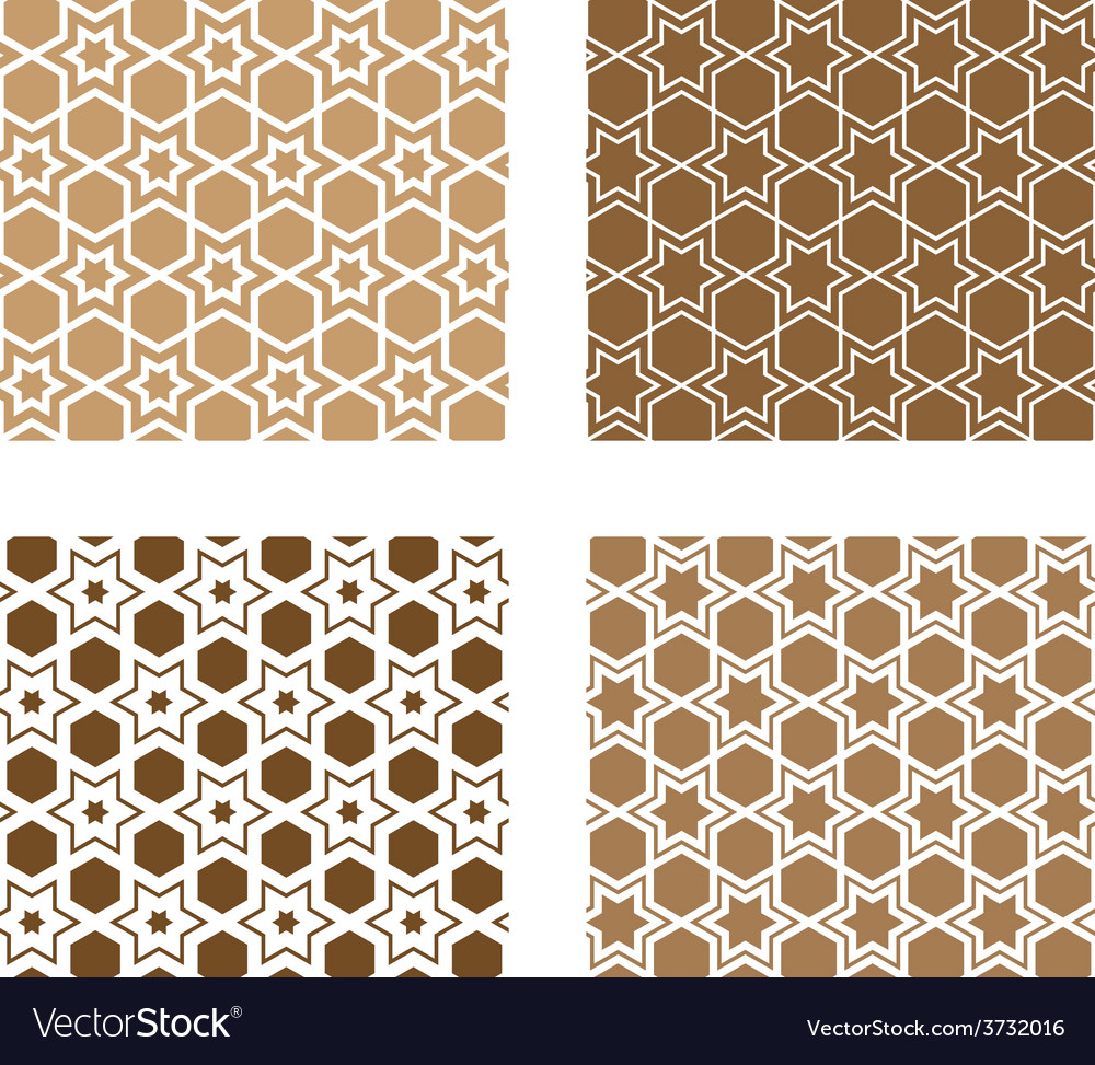 Line stars tile seamless background vector | Price: 1 Credit (USD $1)