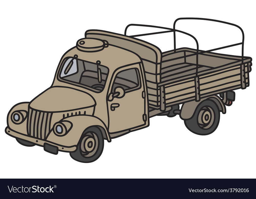 Old miliary truck vector | Price: 1 Credit (USD $1)