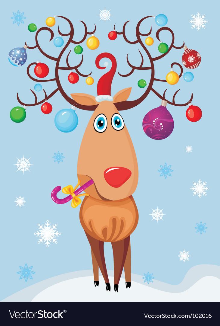 Reindeer vector | Price: 3 Credit (USD $3)