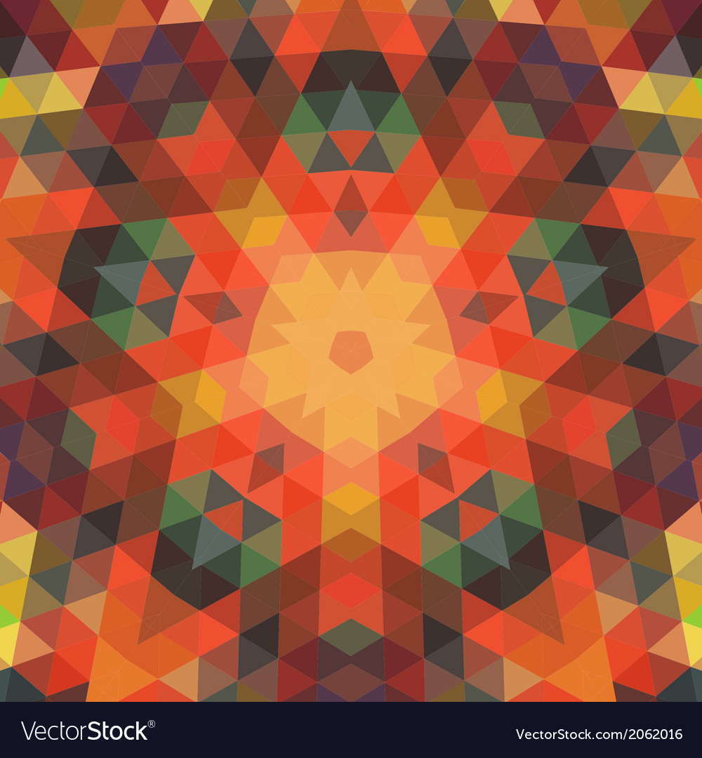 Retro backdrop of geometric shapes colorful mosaic vector | Price: 1 Credit (USD $1)