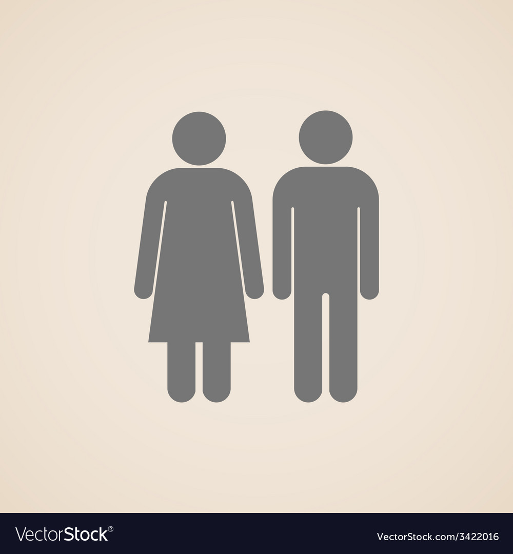 Signs of man and woman restroom vector | Price: 1 Credit (USD $1)