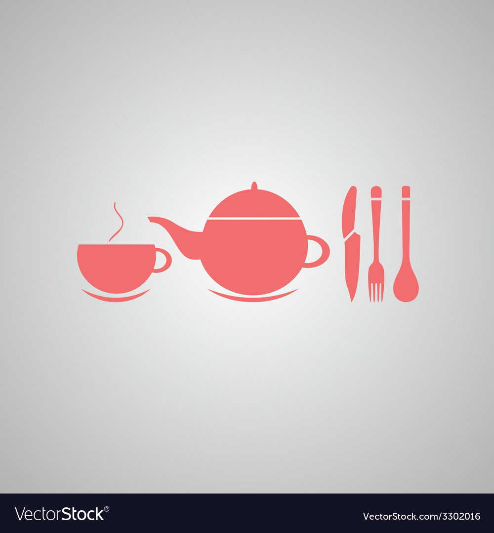 Teapot and cup of tea vector | Price: 1 Credit (USD $1)